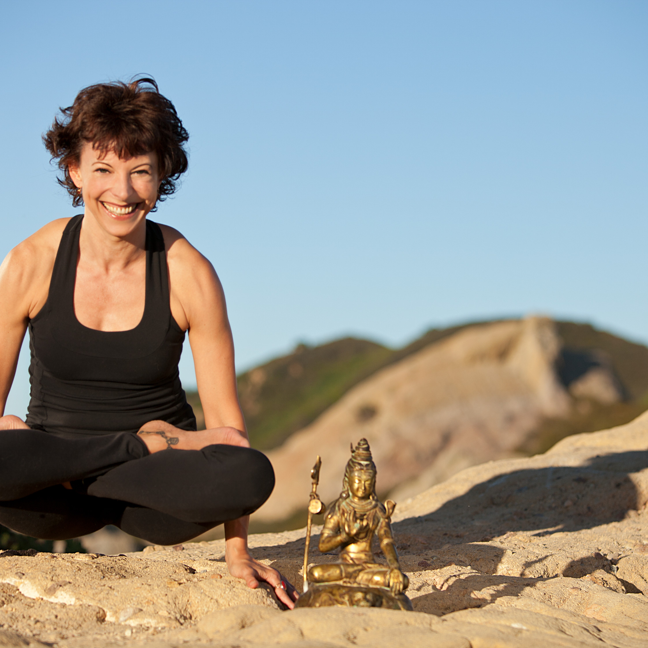 Jeanne Heileman LA Yoga teacher – Lotus Pose