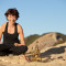 Jeanne Heileman LA Yoga teacher – Lotus Pose