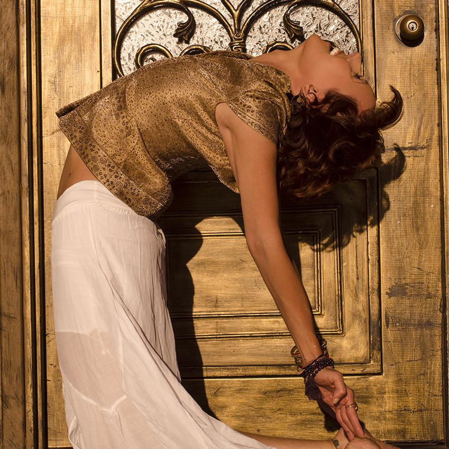 Jeanne Heileman Ustrasana Camel yoga pose