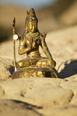 bronze shiva statue trident meditation tantra india